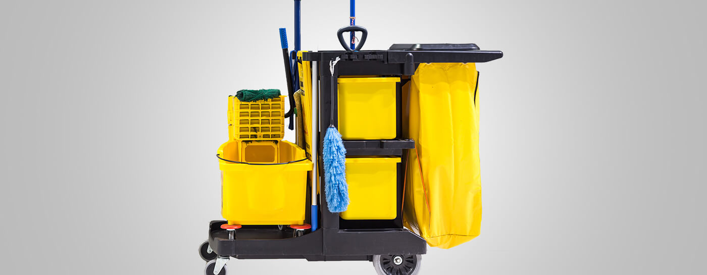 Janitor Cart and Supplies
