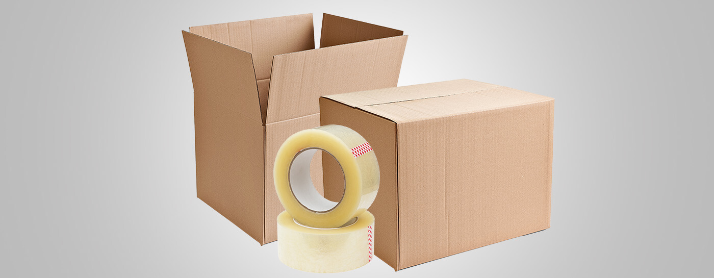 Boxes, tapes, and custom packaging